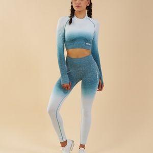 Gymshark Blue And White Ombré Leggings Size S
